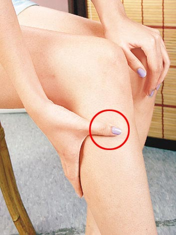 Acupresure Knee Point for weight Loss